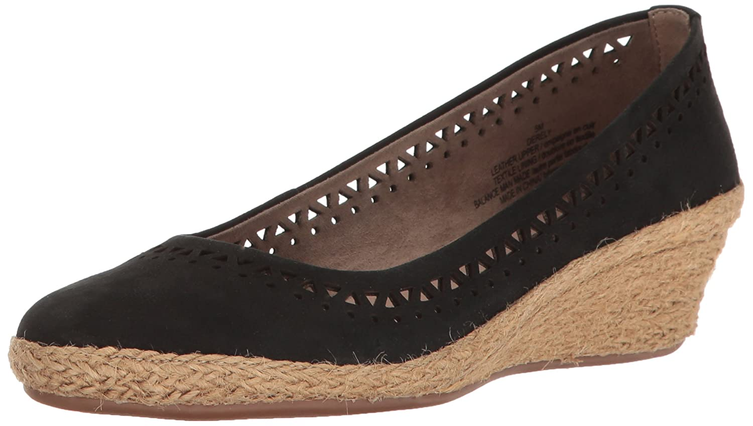 Easy Spirit Women's Derely Wedge Pump B01N0KEQA2 7 N US|Black Nubuck