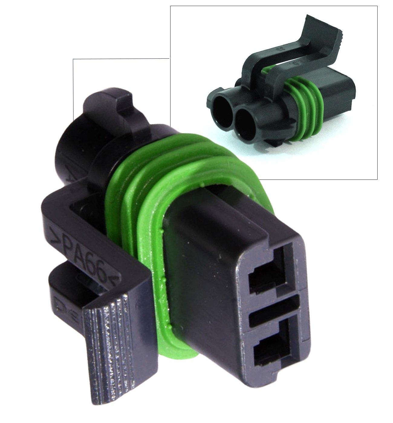 Delphi Metri-Pack 280 Series 2-Way Connector w//12-14 AWG Sealed Waterproof Set