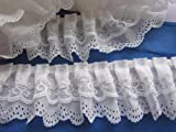 YYCRAFT Pack Of 15y 3-layer Pleated Organza Lace