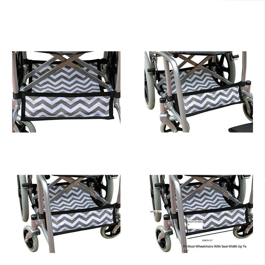 scooter Foldable Wheelchair Under Seat Storage Bag, Underneath Carrier, Basket, Chevron