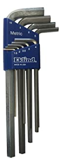 product image for EKLIND 11609 Bright-Hex-L Key allen wrench - 9pc set Metric MM sizes 1.5-10 Long series