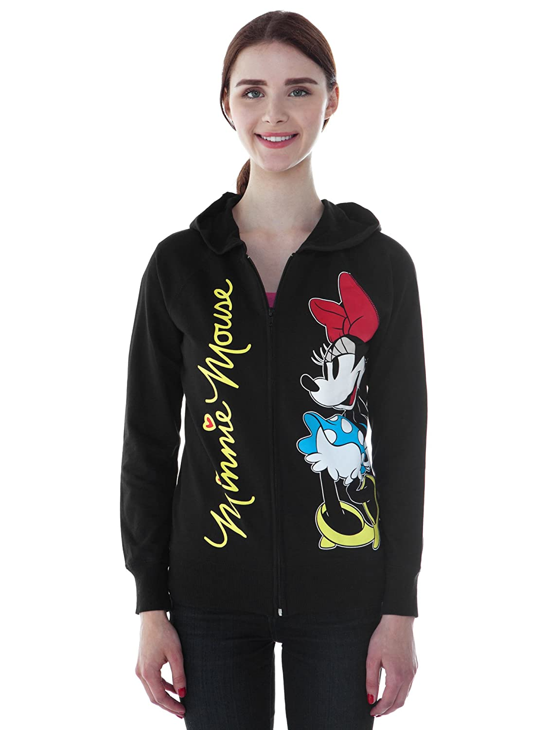 Disney Minnie Mouse Juniors Hoodie Zipper Sweatshirt Print