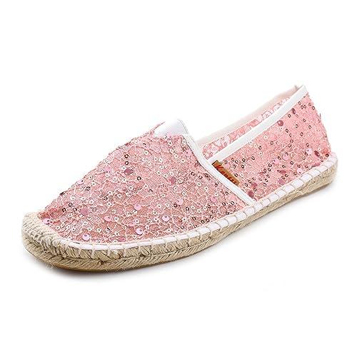 Kentti Mujer Respirable Malla Plano con Cordones Alpargatas: Amazon.es: Zapatos y complementos