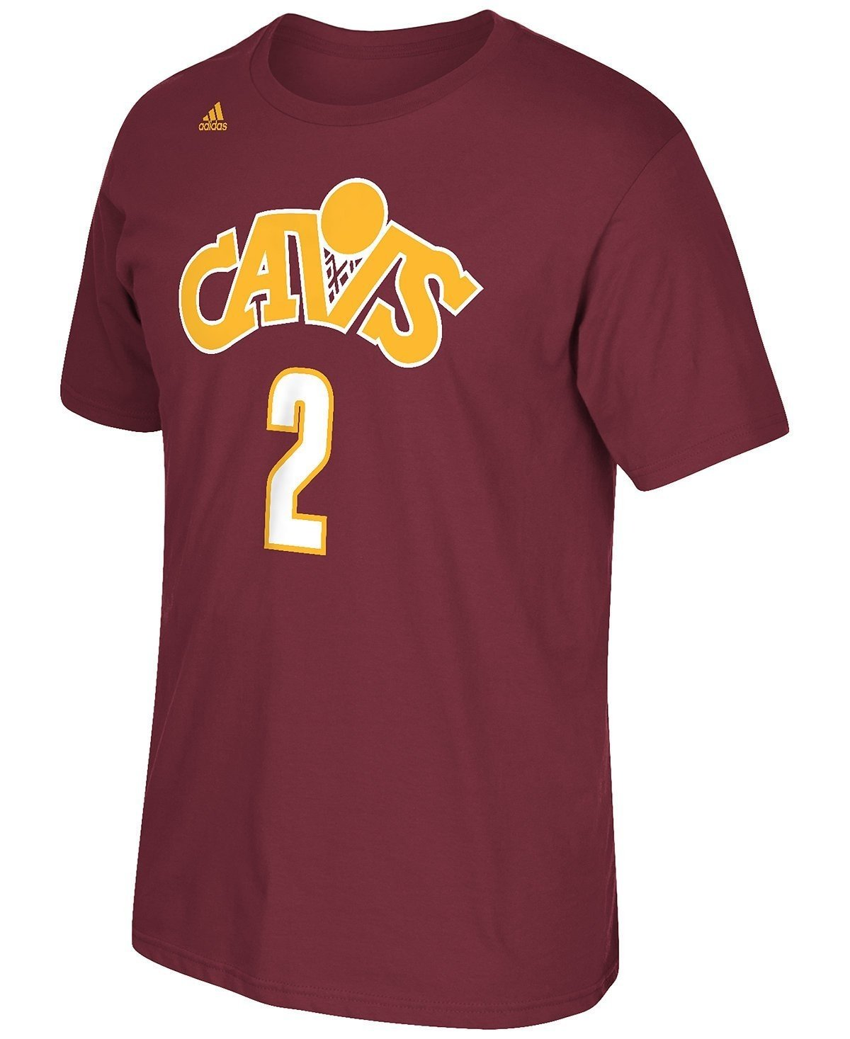 0f50c333d1e Amazon.com   Cleveland Cavaliers Kyrie Irving Raised High Def Adidas Maroon T  Shirt (Small)   Sports   Outdoors