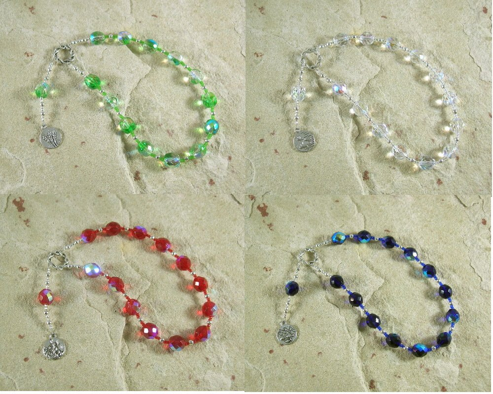 Meditation Bead Set for the Four Elements of Earth/Land, Air/Wind, Fire, and Water