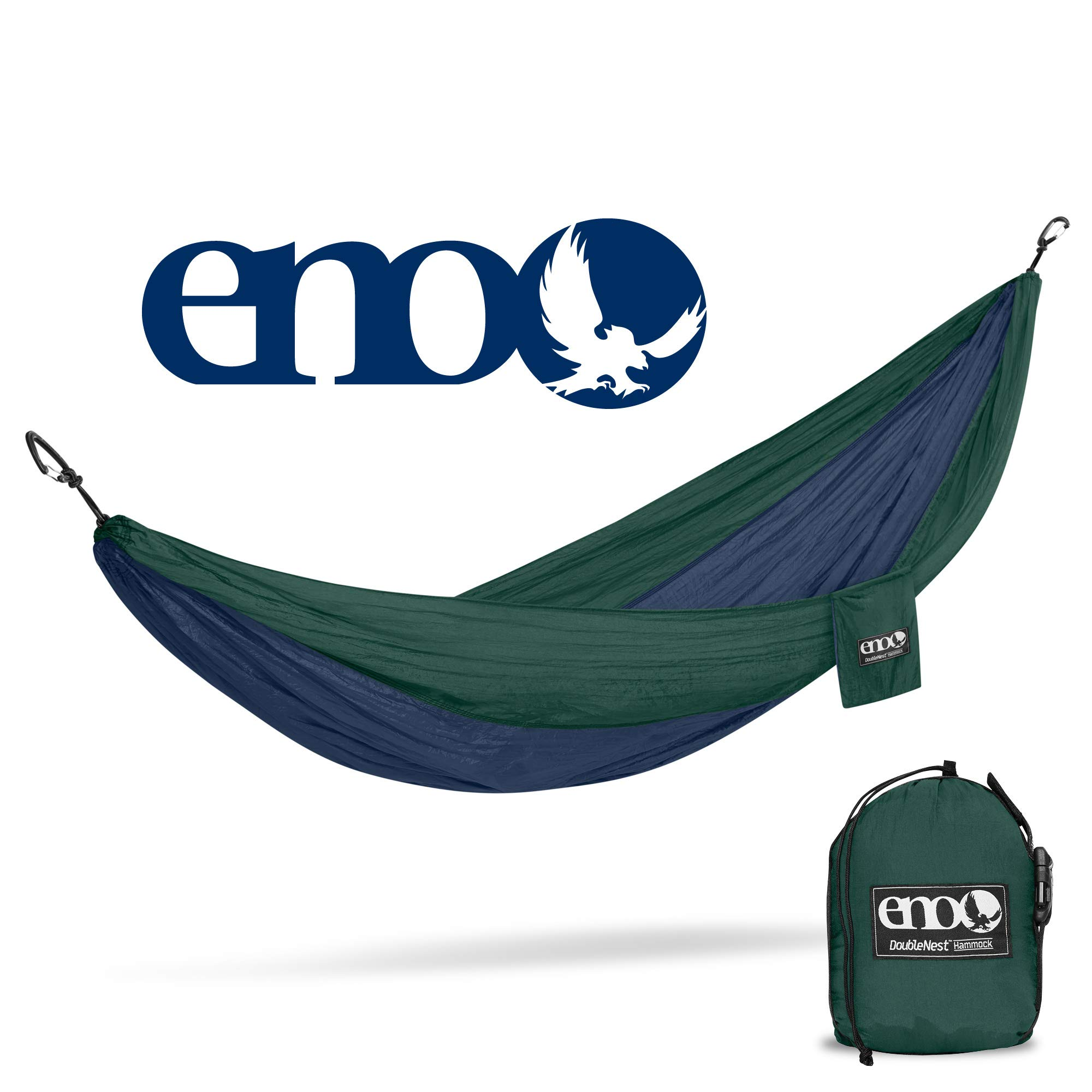 ENO - Eagles Nest Outfitters DoubleNest Hammock, Portable Hammock for Two, Navy/Forest