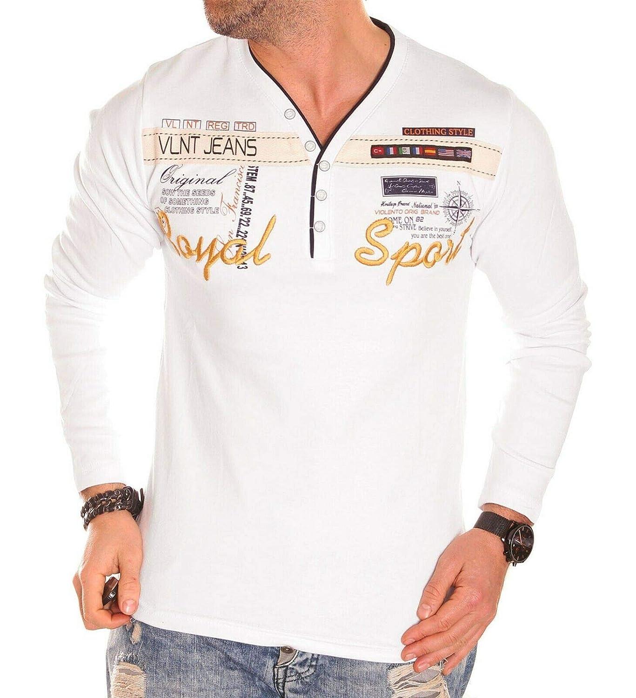 Herren Langarm Shirt Longsleeve Sweatshirt T-Shirt Vintage