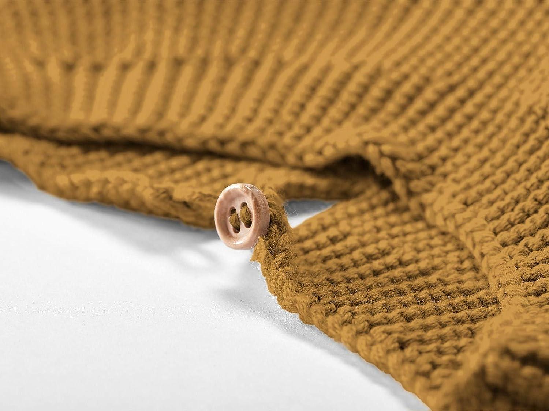 GOTS zertifiziert 86//92 Rose KbA Bio Kinder Strickpullover/100/% Bio-Baumwolle