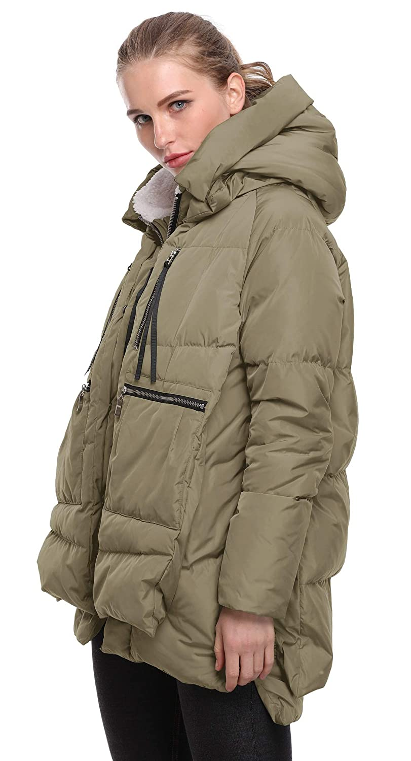 4c637ba964cc Amazon.com  FADSHOW Women s Winter Down Jackets Long Down Coats Warm Parka  with Hood  Clothing