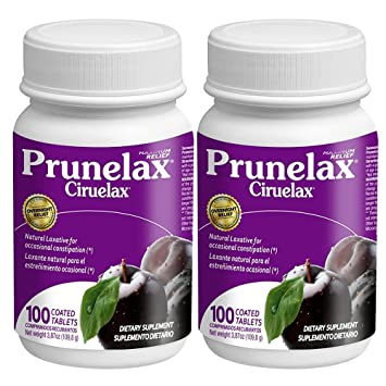 Prunelax Ciruelax Maximum Relief Coated Tablets, 100 ea - 2pc