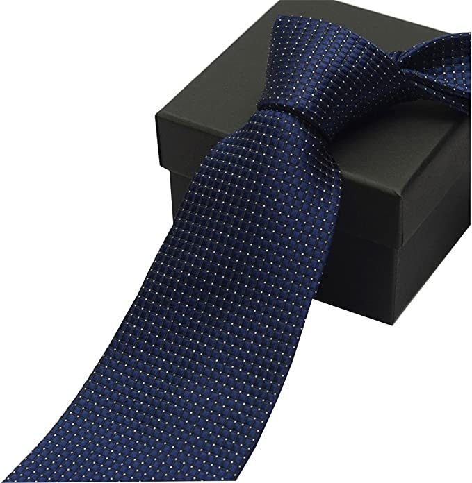 HXCMAN 8cm Azul lunares corbata diseño clásico lujo negocios boda ...