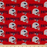 Fabric Traditions NFL Cotton Broadcloth New England Patriots Red/Navy Fabric By The Yard