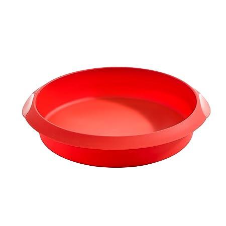 Lékué Redondo 20 Rojo Molde repostería, Silicona, 20 cm: Amazon.es ...