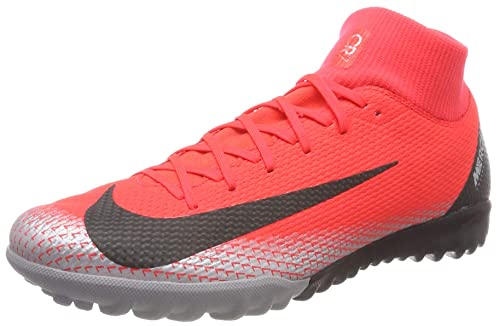 Nike Superfly 6 Academy Cr7 TF, Zapatillas de Fútbol Unisex Adulto, Rojo (BRT Crimson/Black/Chrome/Dk Grey 600), 46 EU: Amazon.es: Zapatos y complementos