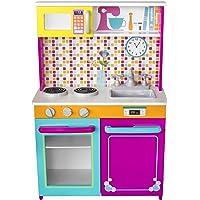 Kids House Cocina de Madera -Big and Bright- Cocina de Juguete para Niñas
