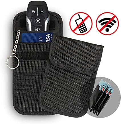Key Signal Blocker Case Keyless Entry Guard Anti Theft RFID Prevention Fob Car