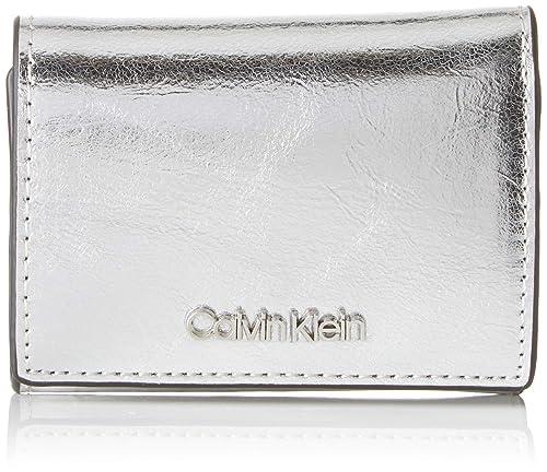 Calvin Klein - Small Wallet Met, Carteras Mujer, Gris ...