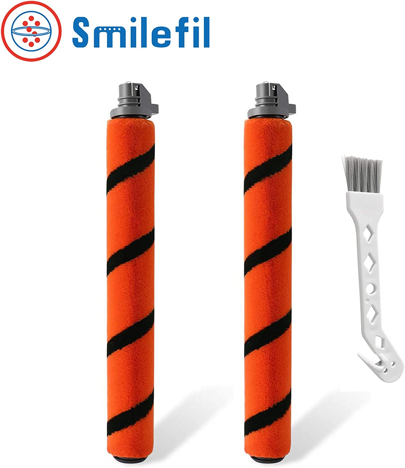Smilefil Soft Brush Roll Replacement Compatible with Shark HV390, HV391, HV392,IC205,IF200,IF201,IF202,IF203Q,IF205,IF251,IF281,IR141,IR142,UF280 Flex DuoClean Vacuum Cleaner, 2 Pack