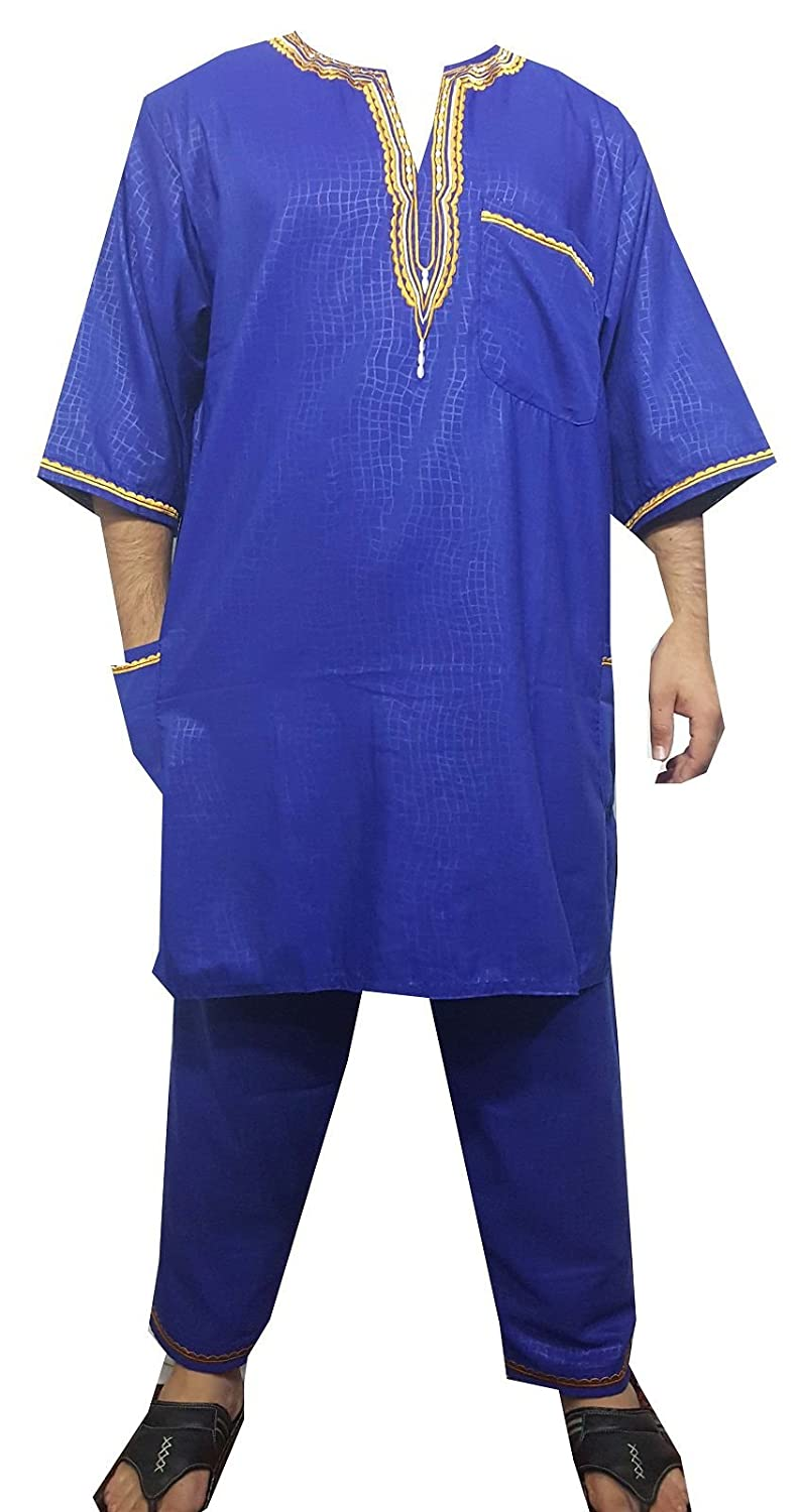 DecoraApparel African Traditional Men Suit Ethnic Clothing Brocade Pant Set Plus Size 311385224412