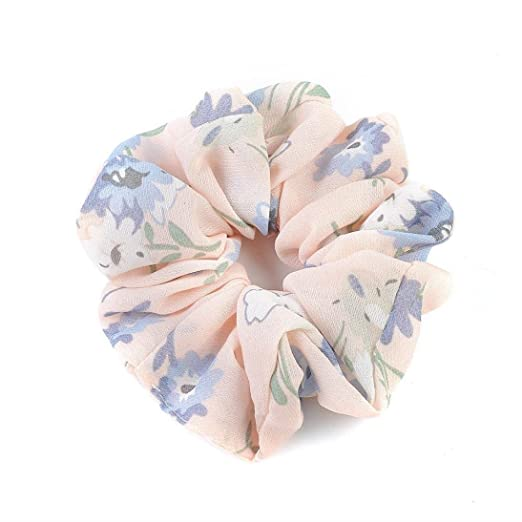 Amazon.com : IKevan Summer Floral Hair Scrunchies Bun Ring Elastic Fashion Sports Dance Scrunchie (Pink) : Beauty