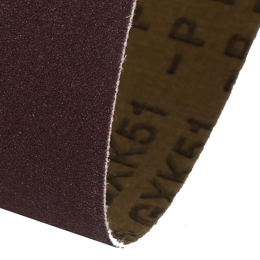 400-Grits Aluminum Oxide Sand Belts for Belt Sander 3pcs sourcing map 4 x 36 Abrasive Sanding Belt
