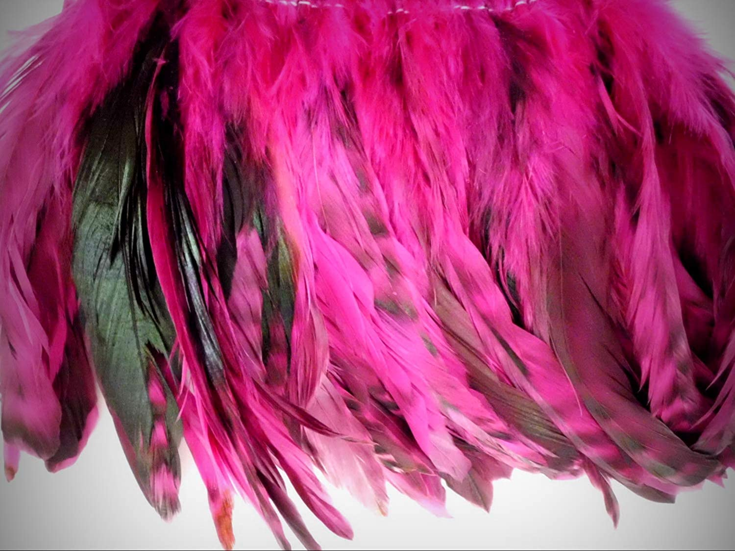 """PURPLE CHINCHILLA GRIZZLY ROOSTER TAILS CRAFT MILLINERY FEATHERS 6/""""-8/""""L 50"""