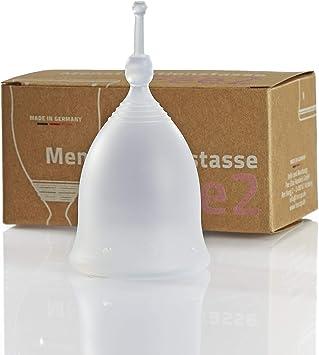 FEE Feecup Classic - Copa menstrual 2 transparentes, fabricadas en Alemania, silicona alemana con certificación médica, vegana, sin plastificantes ni ...