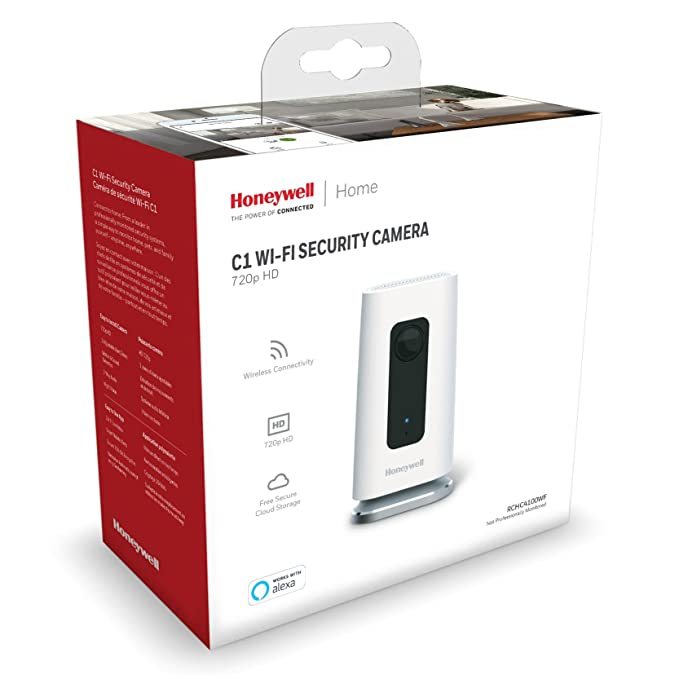 Honeywell Lyric C1 Cámara de Seguridad para Interiores con Wi-Fi, RCHC4100WF1002/W: Amazon.es: Electrónica