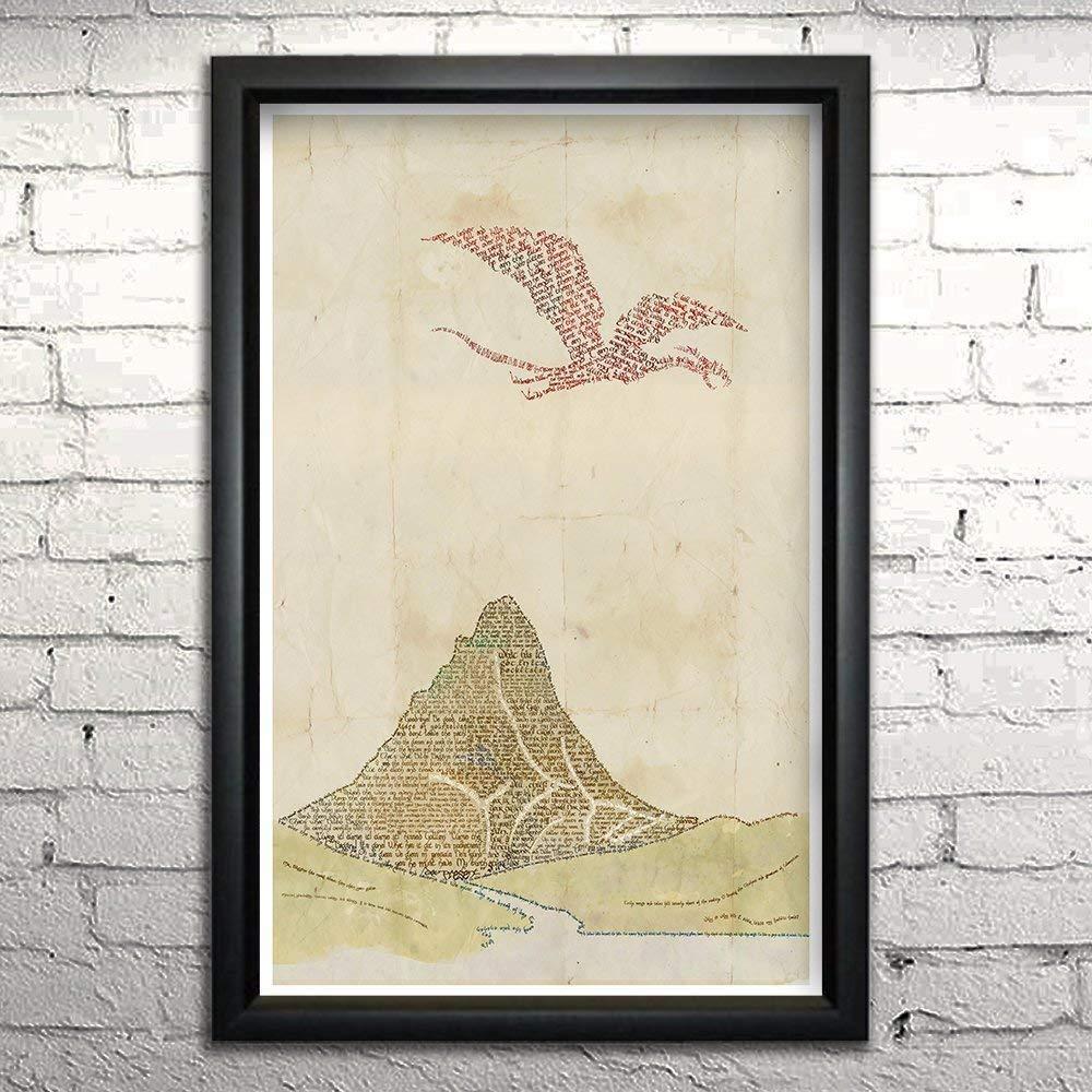 com hobbit word art print x framed typography art