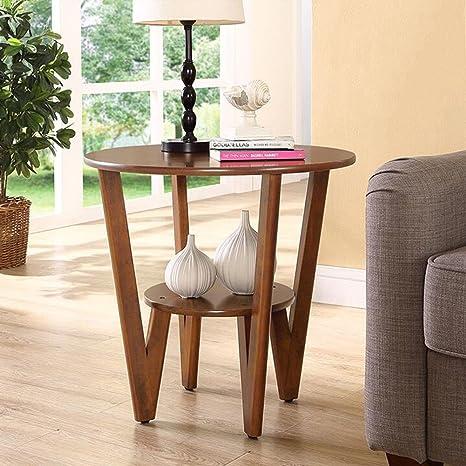 Amazon.com: Muebles de salón CJC mesa de noche redonda de 2 ...