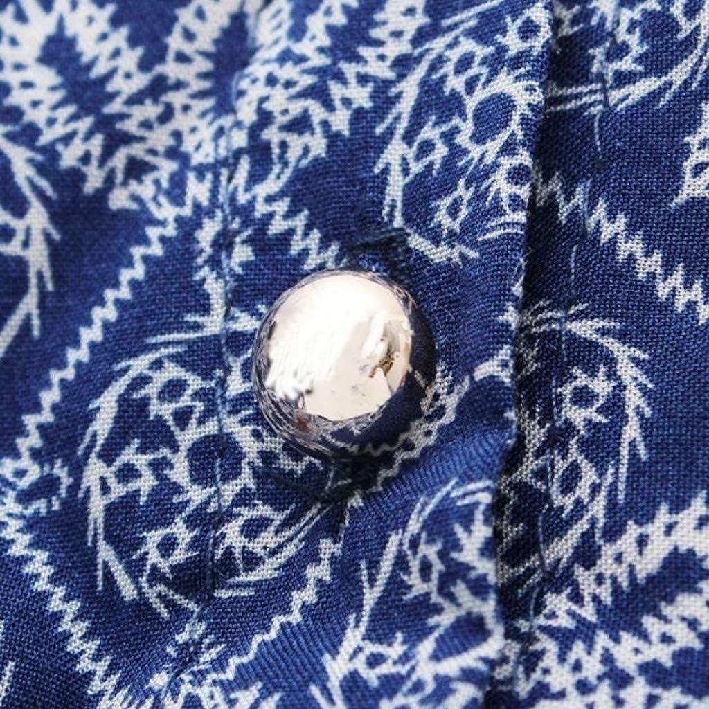 Randolly Womens Dresses,Ladies Summer Floral Print V-Neckline Casual Short Sleeve Mini Dress