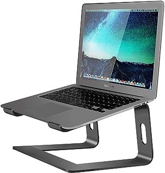 Soundance LS1 Silver Portable Holder Ergonomic Elevator Metal Riser for 10 to 15.6 inch PC Desktop Computer Aluminum Laptop Stand for Desk Compatible with Mac MacBook Pro//Air Apple 12 13 Notebook