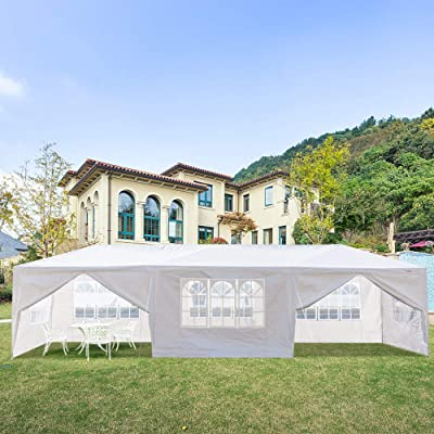 Henf 10x30'' Outdoor Wedding Party Tent, Outdoor Canopy Tent Portable Waterproof Heavy Duty Gazebo Tent, Sun Snow Rain Shelter Gazebo Canopy Tent (8 Sides 2 Doors) : Garden & Outdoor