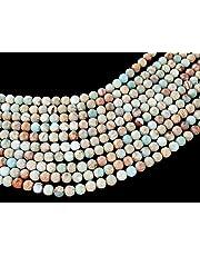 Beads Ok, DIY, Imperial Jasper, Black, Teintée, 4, 6, 8, 10, 12mm, Perle de Pierre Semi-précieuse Rond/Plain Round Semi-Precious Gemstone Bead, Environ 38cm Un Fil.