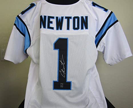 8acc106ef Image Unavailable. Image not available for. Color  Cam Newton Autographed  Signed Carolina Panther Jersey