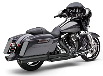Cobra 17-19 Harley FLHX2 909-Twins Slip-On Exhaust (Raven Black)
