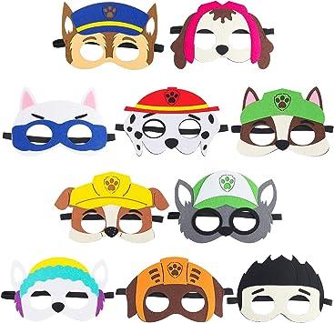 Amazon.com: Paquete de 10 máscaras para fiesta de cachorros ...