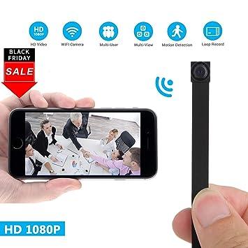 Eternal eye Mini Cámara Oculta WiFi 1080P HD Mini Cámaras Inalámbricas Pequeña Cámara P2P/Motion