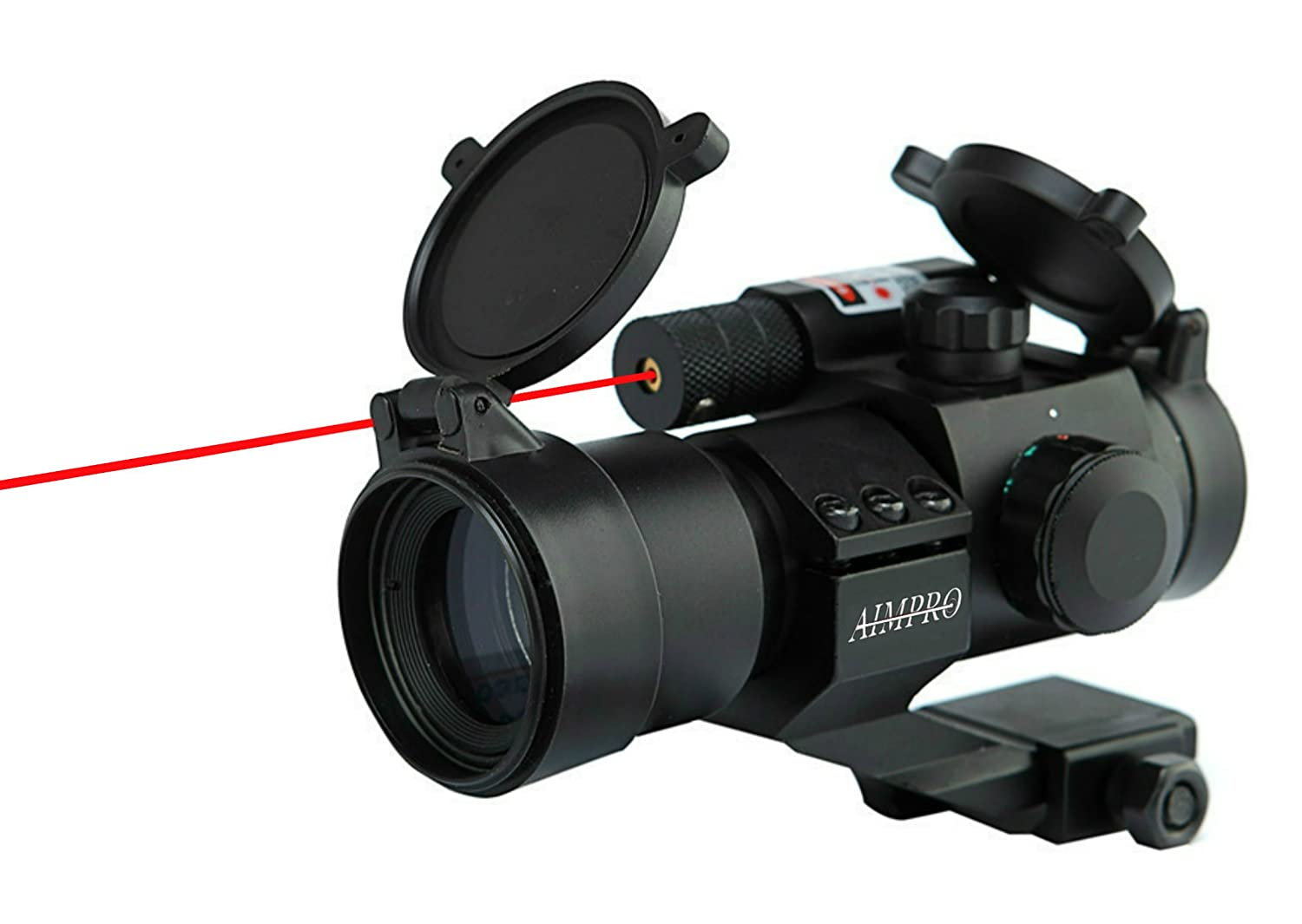 Aimpro Red/Green Dot Sight with Built-in Laser for Rifle or Shotgun