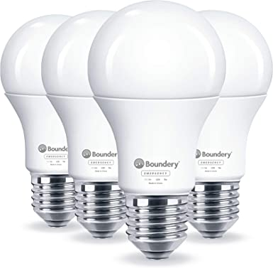 Amazon.com: Boundery - Bombilla LED de emergencia con fallo ...