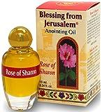 Holy Land Market Rose of Sharon - Blessing from Jerusalem Anointing oil - 10ml (.34 fl. oz.) (Rose of Sharon)