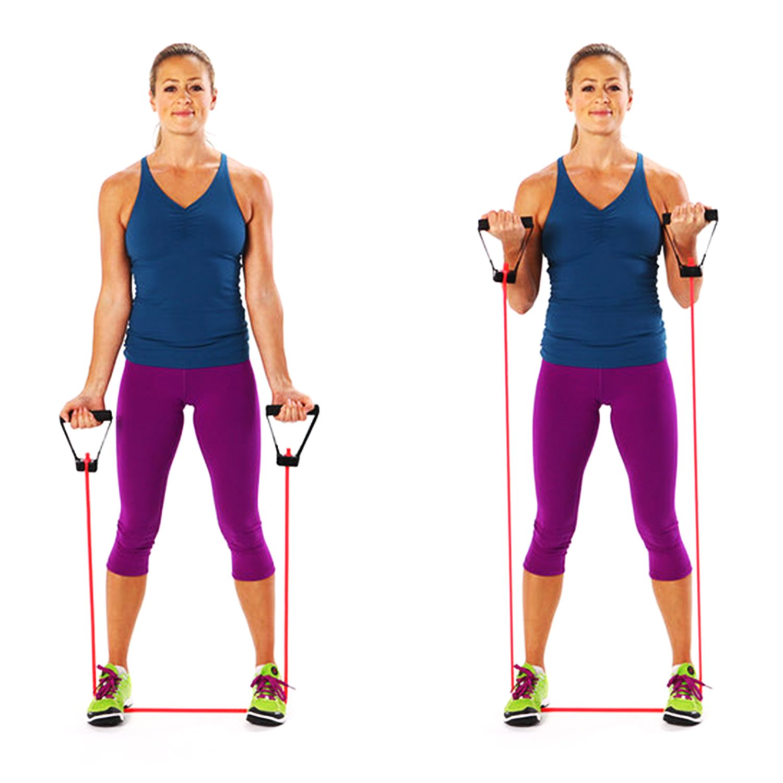 AXYSM Bandas de ejercicios y bandas de resistencia 2, tubos de resistencia con mangos de espuma 2 niveles: medio/pesado para Pilates, yoga, fisioterapia, ...