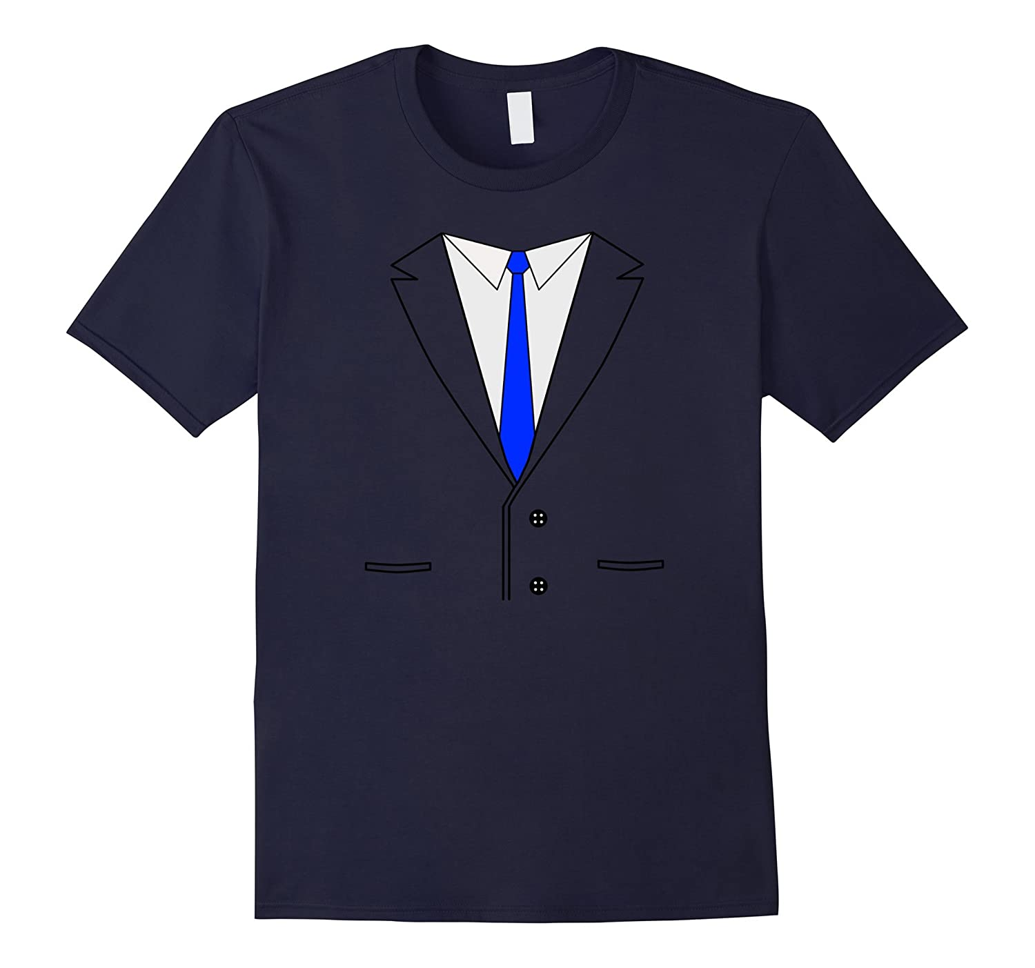 Fake Business Suit with Blue Tie t shirt-ANZ