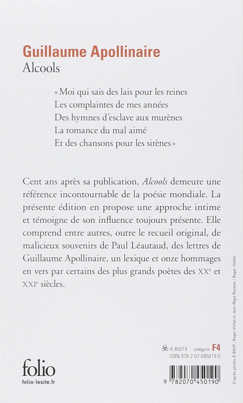 Alcools Poèmes 1898 1913 Folio Amazones Guillaume