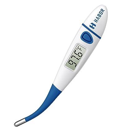 Habor termómetro termómetro digital médica, oral rápido 10 Segunda Lectura rectal y la axila termómetro
