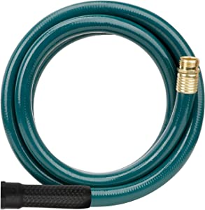 Worth Garden 3/4 in. x 10ft Garden Hose - Durable PVC Non Kinking Heavy Duty Water Hose with Brass Hose Fittings - 12 Years Warranty - H065B03