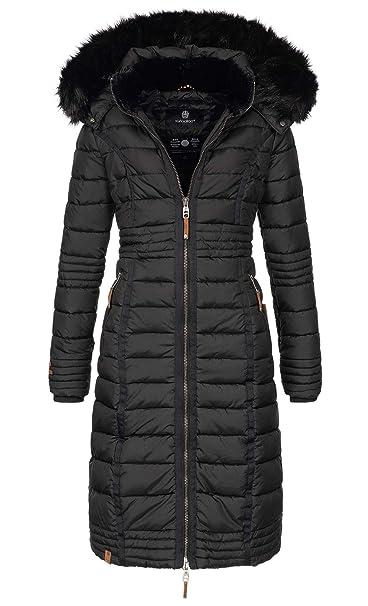 pretty nice ba8ea 0ff73 Navahoo Damen Wintermantel Mantel Steppmantel Winter Jacke lang Stepp warm  Teddyfell B670