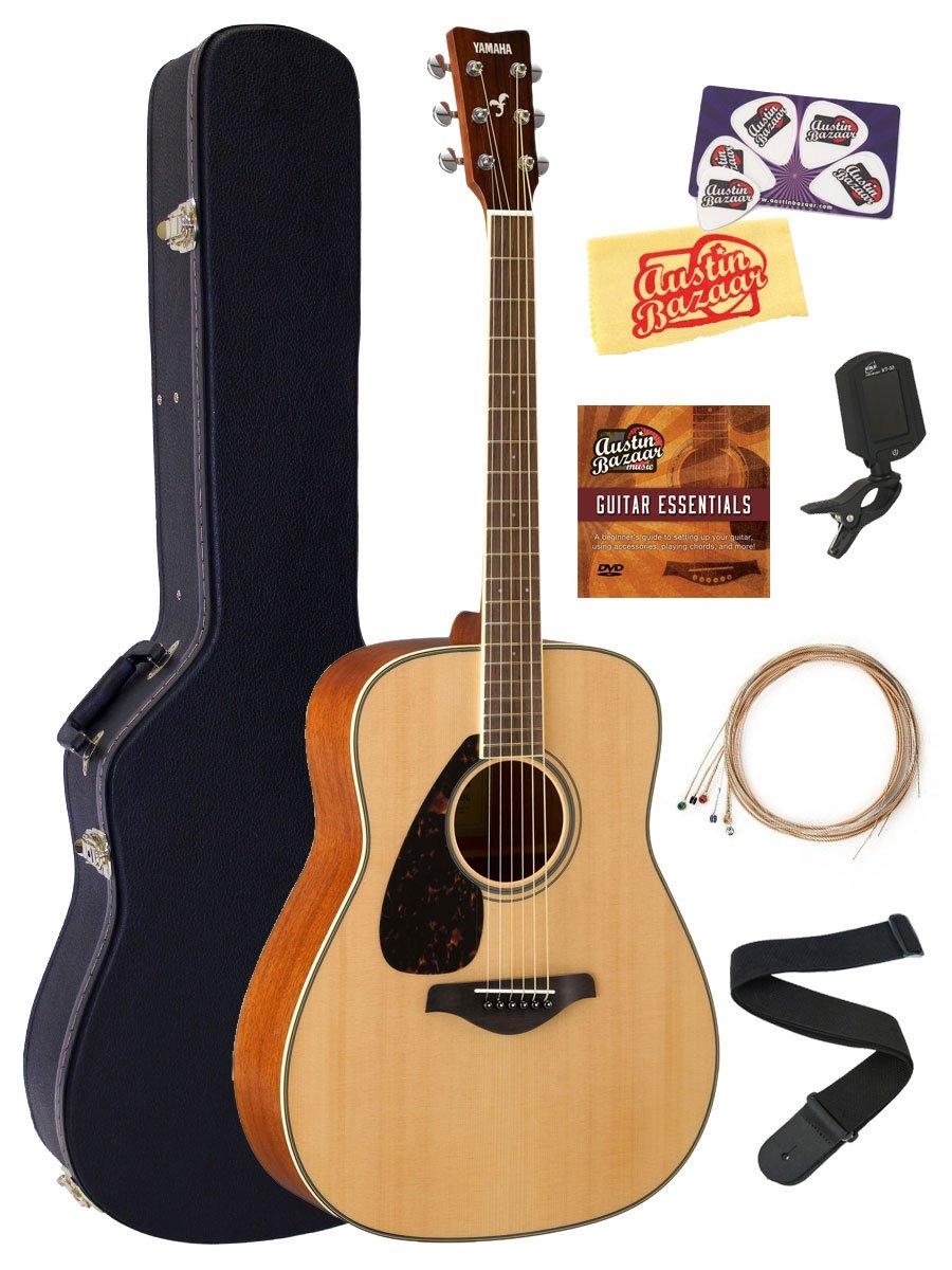Amazon Yamaha Fg820l Left Handed Acoustic Guitar Bundle With