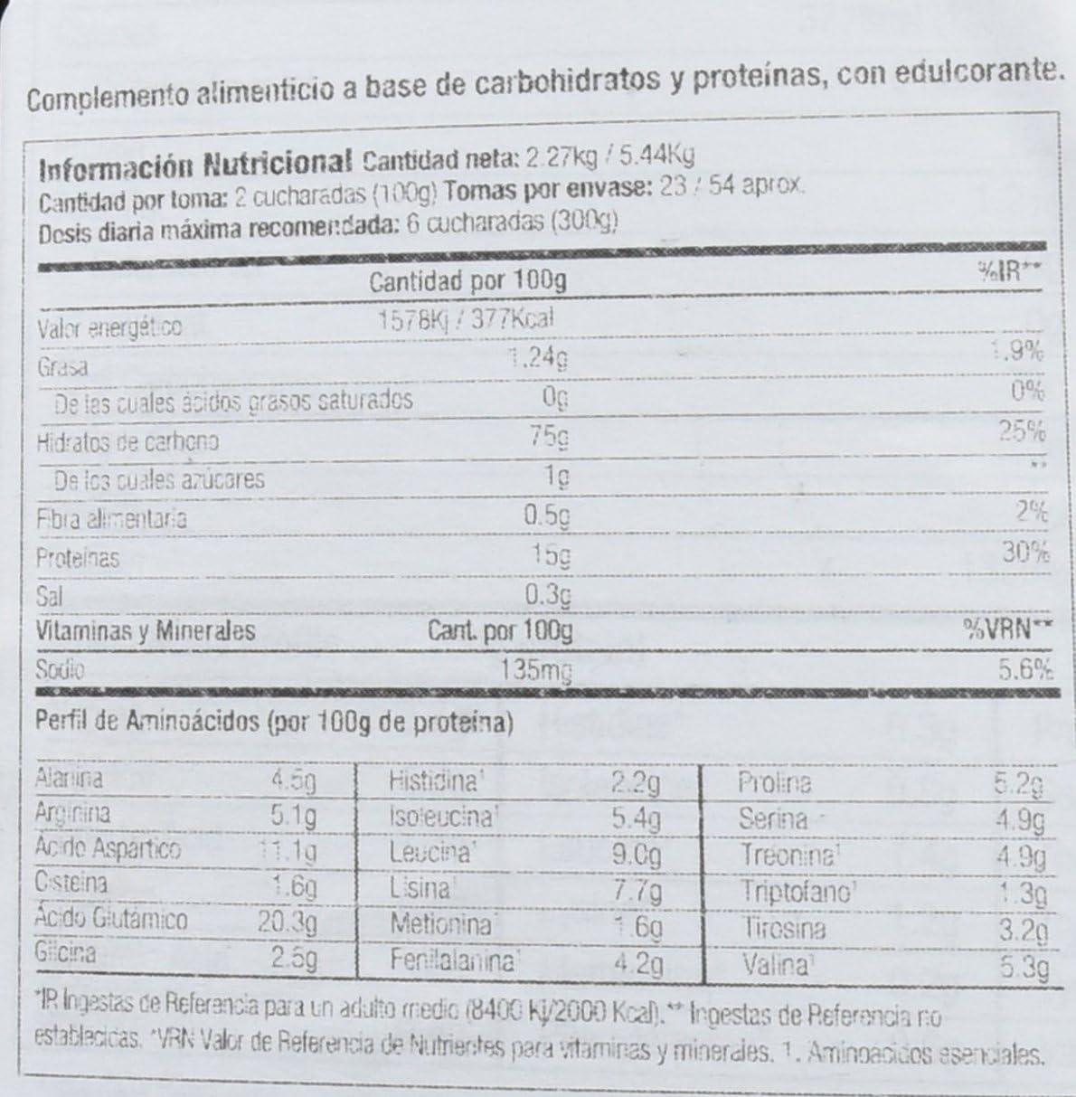 Starlabs nutrition xxl myo gainer, 2270gr. ganador de peso