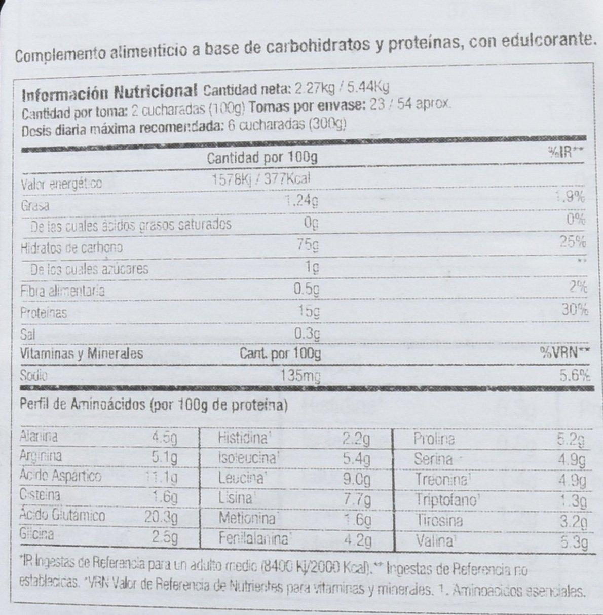 Starlabs nutrition xxl myo gainer, 2270gr. ganador de peso: Amazon.es: Alimentación y bebidas